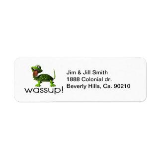 Etiqueta Tartaruga de Wassup