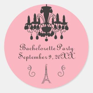 Etiqueta temático parisiense do círculo do partido