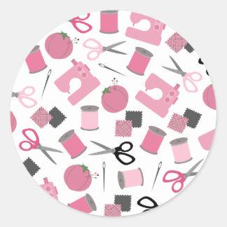 Etiqueta temático Sewing do selo do envelope Adesivo Redondo