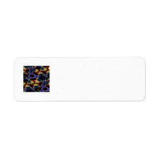 Etiqueta Teste padrão amarelo do fundo escuro e alaranjado