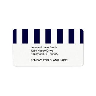 Etiqueta Teste padrão da listra da extra grande dos azuis