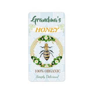 Etiqueta Teste padrão floral do favo de mel do jardim da