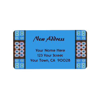 Etiqueta Teste padrão novo do azulejo de Brown de turquesa