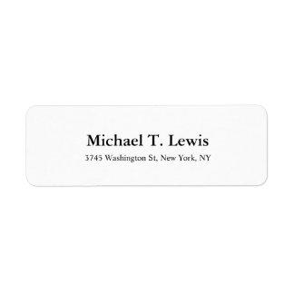 Etiqueta Texto corajoso legível branco do preto elegante da