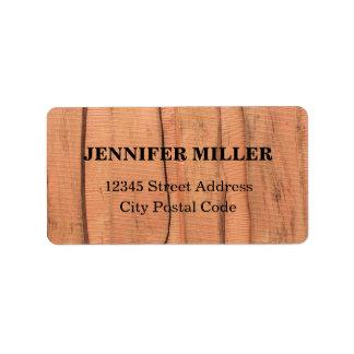 Etiqueta Textura de madeira