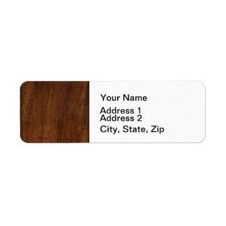 Etiqueta Textura de madeira escura elegante de madeira