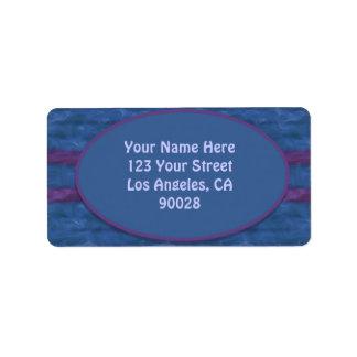 Etiqueta textura roxa azul escuro