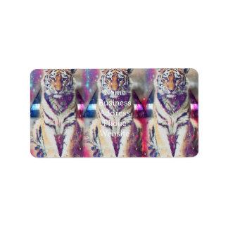 Etiqueta Tigre do hipster - arte do tigre - tigre do