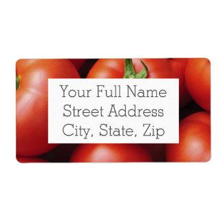 Etiqueta Tomates maduros - vermelho brilhante, fresco