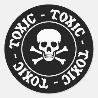 Etiqueta tóxica do crânio e dos Crossbones