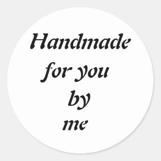 Etiqueta transparente Handmade customizável