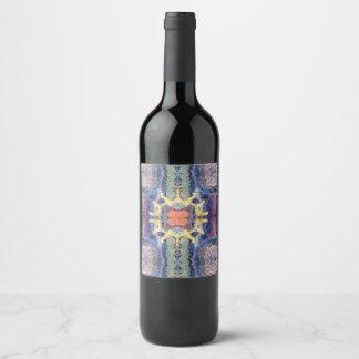 etiqueta transversal do vinho da luz do sol
