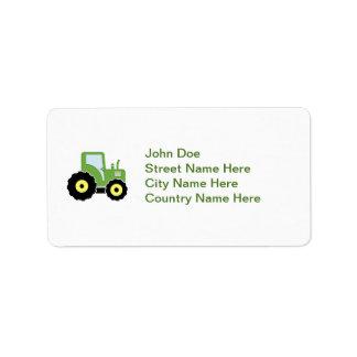 Etiqueta Trator verde do brinquedo
