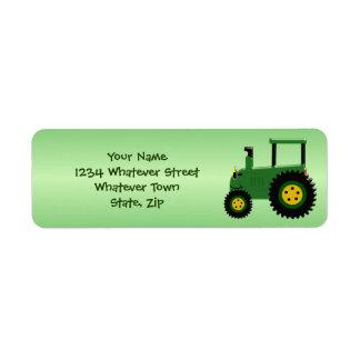 Etiqueta Trator verde personalizado