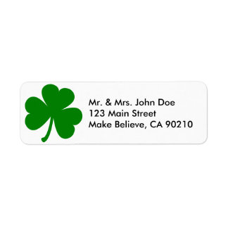 Etiqueta Trevo verde afortunado do Dia de São Patrício