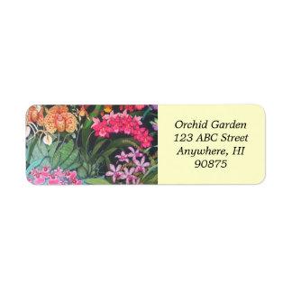 Etiqueta tropical de Avery do jardim da orquídea Etiqueta Endereço De Retorno