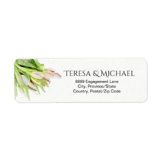 Etiqueta Tulipa, aguarela, wedding