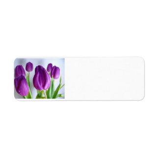 Etiqueta Tulipa roxa