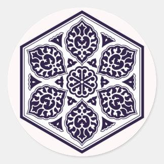 Etiqueta turca do teste padrão 5 do império