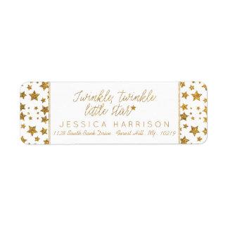 Etiqueta Twink, cintilação pouco chá de fraldas da estrela