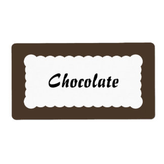 Etiqueta universal castanho chocolate etiqueta de frete