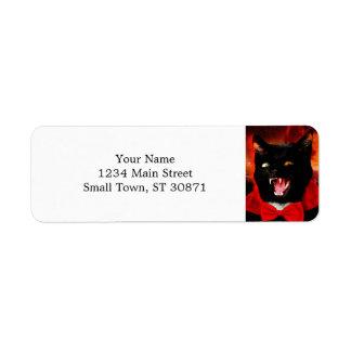 Etiqueta vampiro do gato - gato preto - gatos engraçados