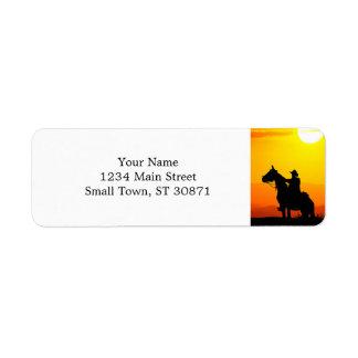 Etiqueta Vaqueiro-Vaqueiro-luz do sol-ocidental-país do por