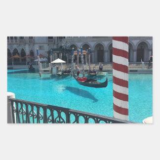 Etiqueta Venetian de Italia da água do barco da