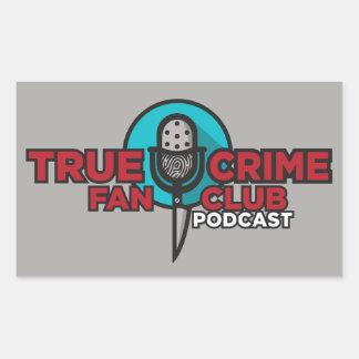 Etiqueta verdadeira do clube de fãs do crime!