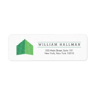 Etiqueta Verde/branco Home abstratos do logotipo