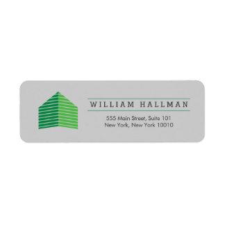 Etiqueta Verde/cinzas Home abstratos do logotipo