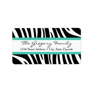 Etiqueta Verde da hortelã do impressão da zebra do │ das