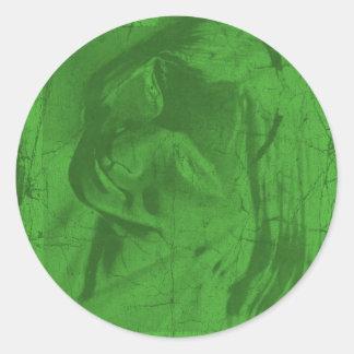 Etiqueta verde das reflexões adesivo