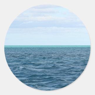 Etiqueta verde do horizonte