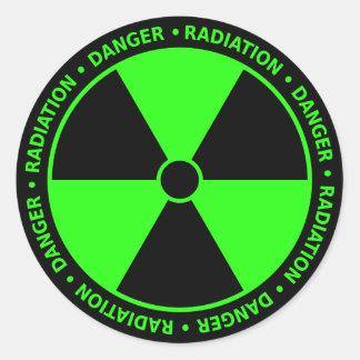 Etiqueta verde do símbolo da radiação adesivo