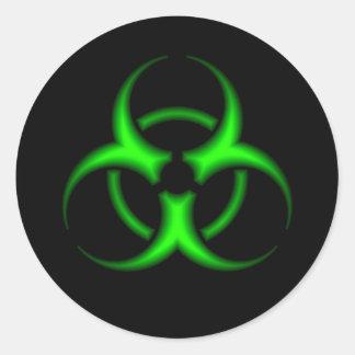 Etiqueta verde do símbolo do Biohazard