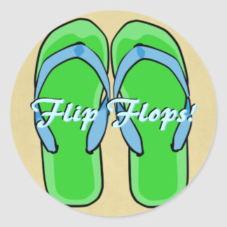 Etiqueta verde dos flip-flops adesivo