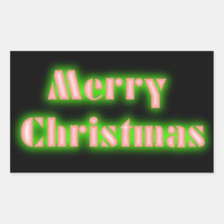 Etiqueta verde e vermelha preta do Feliz Natal