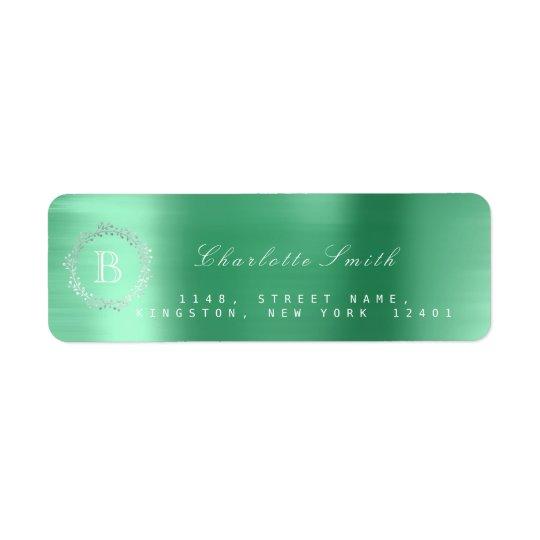 Etiqueta Verde esmeralda RSVP da prata da grinalda do louro