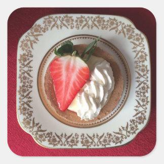 Etiqueta vermelha de veludo da galdéria da morango