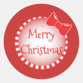 Etiqueta vermelha do Feliz Natal | do arco