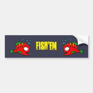 Etiqueta vermelha dos peixes adesivo para carro