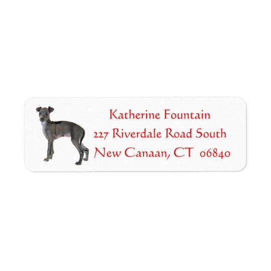 Etiqueta Vermelho cinzento do cão de filhote de cachorro do