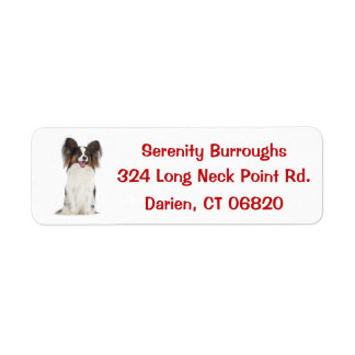 Etiqueta Vermelho do cão de filhote de cachorro de Papillon