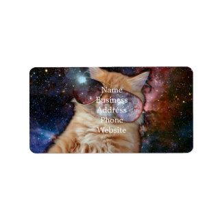 Etiqueta Vidros do gato - gato dos óculos de sol - espaço