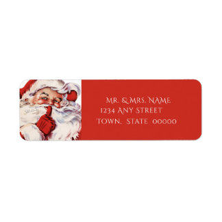 Etiqueta Vintage Papai Noel, costume