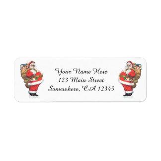 Etiqueta Vintage Papai Noel, Natal do Victorian cortado