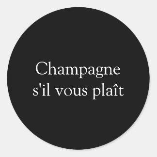 Etiqueta vous do plaît do s'il de Champagne