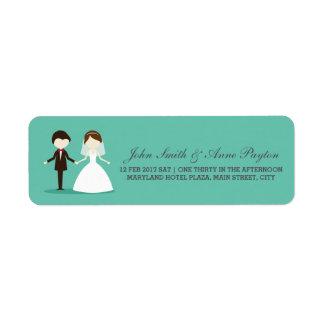 Etiqueta Wedding do casal