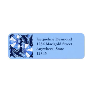 Etiqueta William Morris Jacobean, marinho e luz - azul
